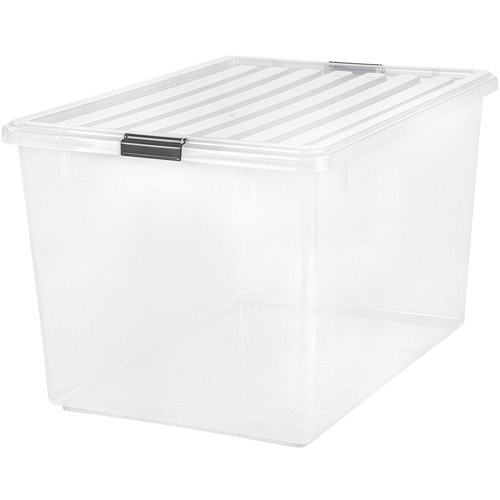 Iris Clear Plastic Tote 132 Quart In Plastic Storage Boxes