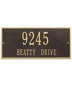 Hartford Lawn Address Plaque - Estate Two-Line