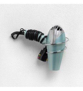 Wall Mount Hair Dryer Holder - Chrome Image