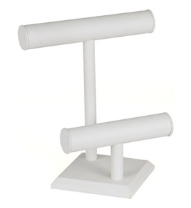 Leatherette Jewelry Display Stand - Two-Tier Image