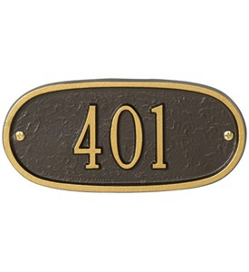 Oval Entryway Home Address Plaque Image