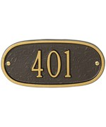 Oval Entryway Home Address Plaque
