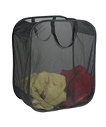 Pop Up Micro Mesh Clothes Hamper - Black