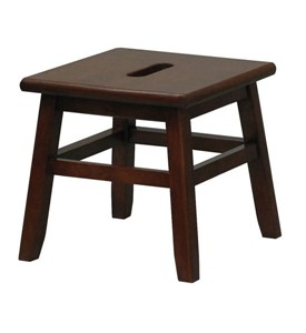 Wooden Step Stool - Walnut Image