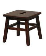 Wooden Step Stool - Walnut