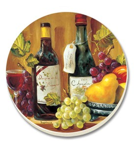 Stone Coaster Set - Fruit and Wine (Set of 4) Image