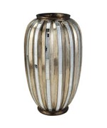 13 Inch H Silver and Gold Metalic Tiles Decorative Vase by O.R.E.