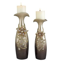 Decorative Candle Holders - Sapphire Rose (Set of 2) Image