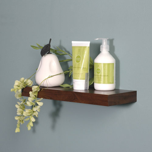14 Inch Silhouette Wood Wall Shelf In Wall Mounted Shelves
