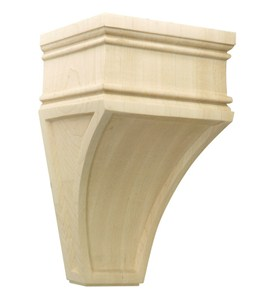 Hand Carved Wood Corbel - Arcadian Image