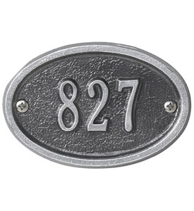 Petite Oval Entryway Home Address Plaque Image