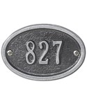 Petite Oval Entryway Home Address Plaque