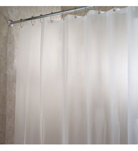 EVA Vinyl Stall Shower Curtain Liner - Frost White Image