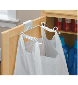 Grocery Bag Holder - Over the Cabinet Door Image