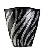 14 Inch H Zebra Decorative Vase by O.R.E.