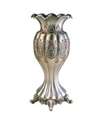 15.75 Inch H Traditional Royal Silver and Gold Metalic Decorative Vase by O.R.E.