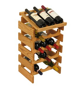 15 Bottle Dakota Wine Rack with Display Top by Wooden Mallet Image