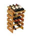 15 Bottle Wine Rack with Display Top