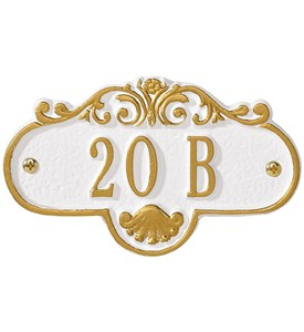 Rochelle Entryway Home Address Plaque Image