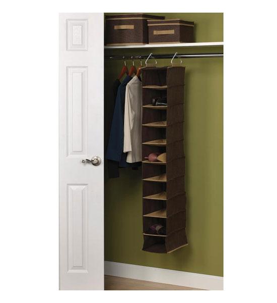 Delightful Hanging Closet Shoe Organizer Part - 4: Hanging Closet Organizer - 10 Pocket Image