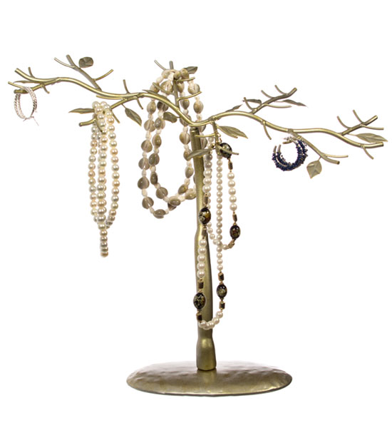 Jewelry Organizer Tree - Antique Gold Image