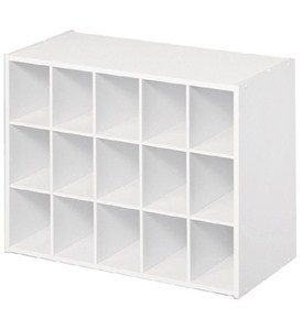 Fifteen Pair Shoe Organizer - White Image