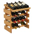 16 Bottle Wine Display Rack