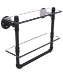 16 Inch 2-Tier Shelf with Towel Bar