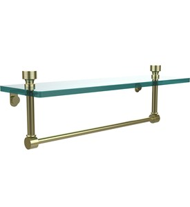 16 Inch Glass Shelf with Towel Bar - Foxtrot Image