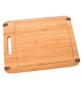 Slip Resistant Bamboo Cutting Board - Large Image