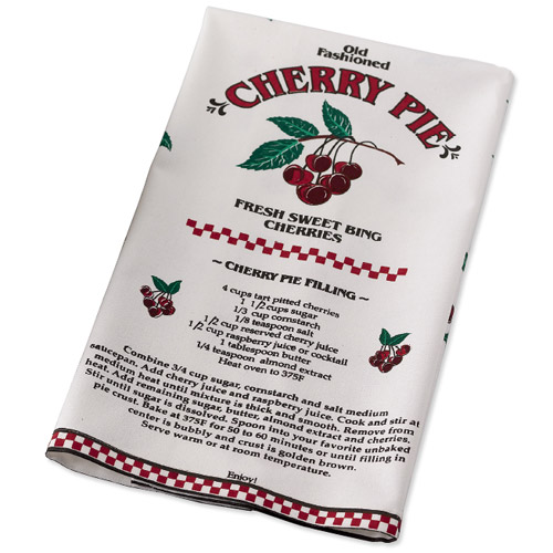 Cherry Pie Themed Decorative Tea Towel In Kitchen Towels