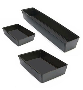 Interlocking Plastic Bins - Black Image