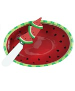 Dip Bowl and Spreader Set - Watermelon