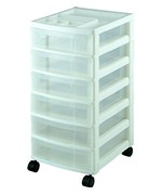 Six Drawer Office Storage Chest - White