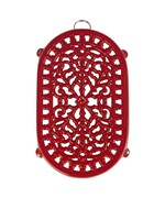 Red Cast Iron Trivet - Dutch Style