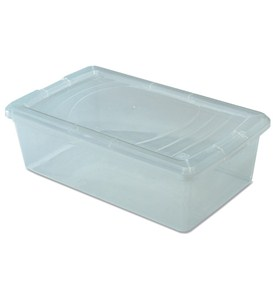 Clear Plastic Box - Small Shoe Image