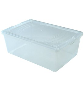 Clear Plastic Box - Large Shoe Image