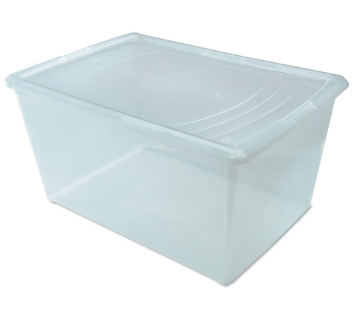 Clear Plastic Box Large Deep in Plastic Storage Boxes