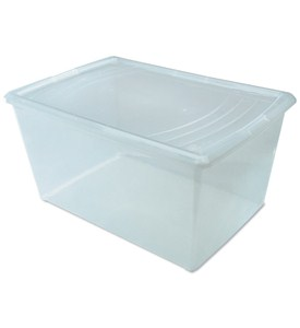 Clear Plastic Box - Large Deep Image