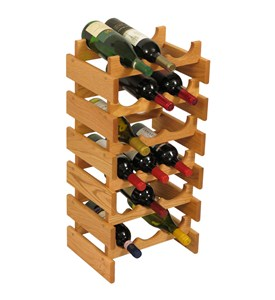 Wood Wine Rack - 18 Bottle Image