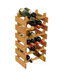 Wood Wine Rack - 18 Bottle