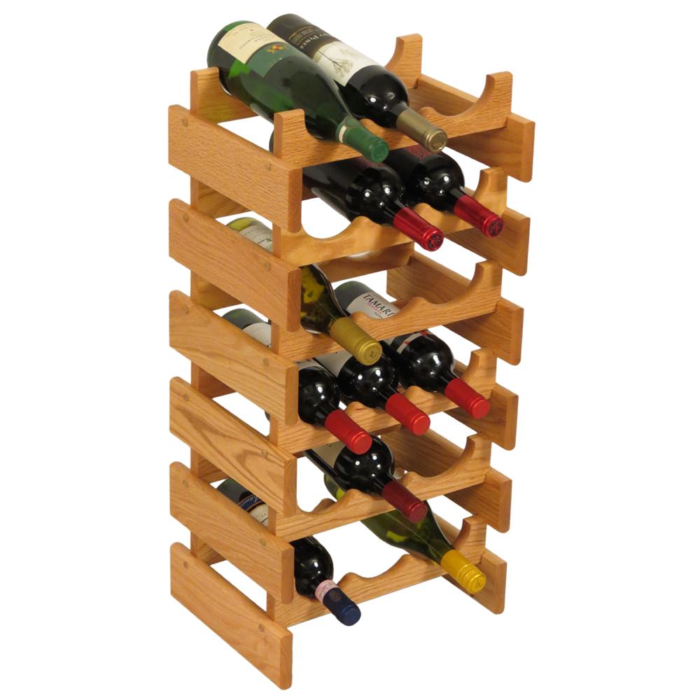 wood wine rack 18 bottle price