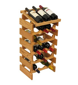 Wood Wine Display - 18 Bottle Image