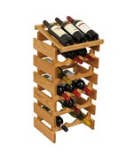 Wood Wine Display - 18 Bottle