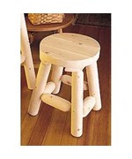 18 Inch Cedar Stools - Set of 2 - Log Cabin Look