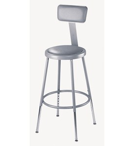 18 Inch Lab Stool with Back Rest Image
