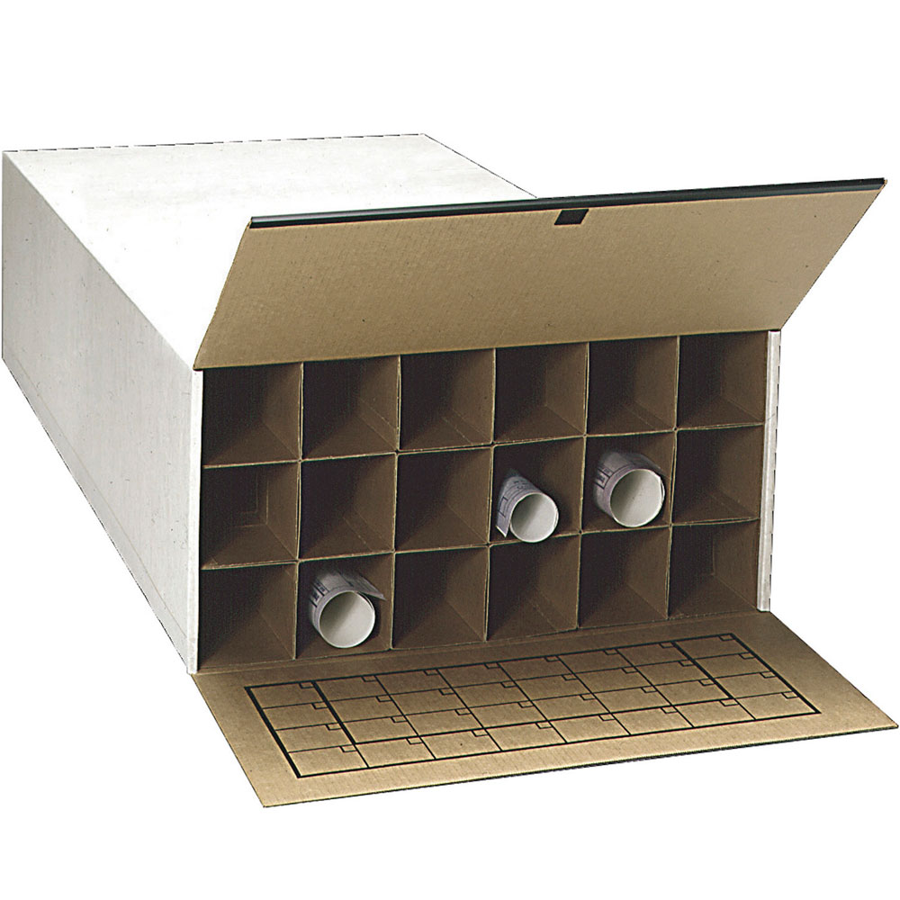 18 Section Roll File Storage Box Set Of 2 Image