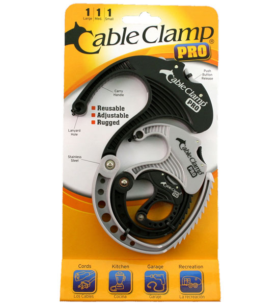 Plastic Hose Clamps >> Multipurpose Cable Clamps (Set of 3) in Cable Organizers