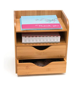 Bamboo Four-Tier Desk Organizer Image