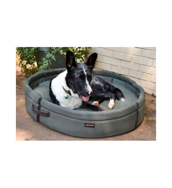 Round Dog Bed - Olive Image